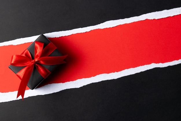 Рождественские коробки с copyspace. черная пятница и концепция дня подарков.