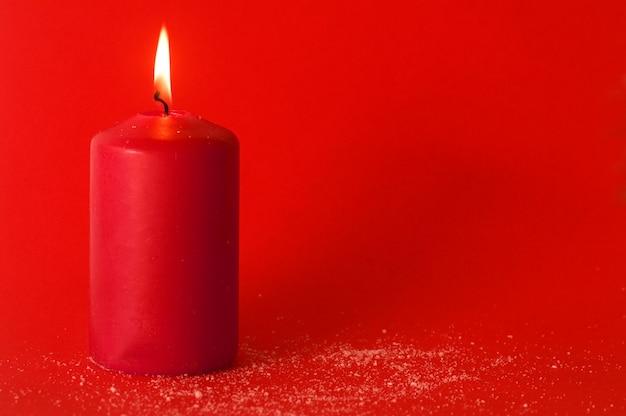 Natale candela accesa