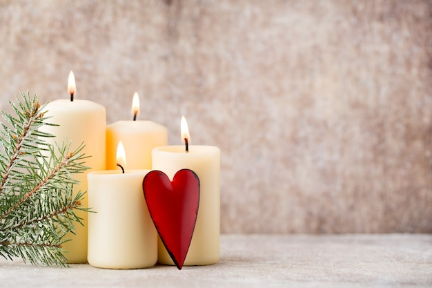Рождественские свечи и огни