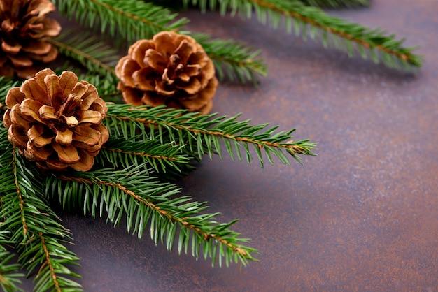 クリスマスカードと新年のコンセプト