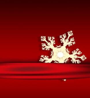 Рождественская открытка с легкой снежинкой