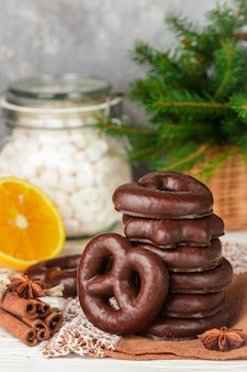 Christmas chocolate gingerbread