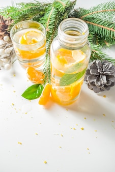 Christmas clementine and ginger gin