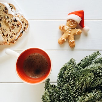 Christmas coffee and ginger