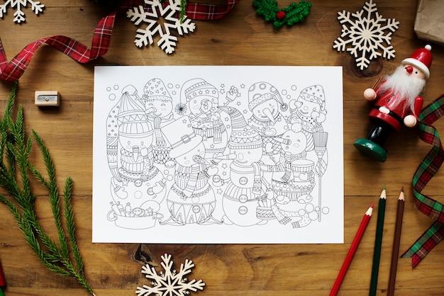 クリスマスのぬりえの本