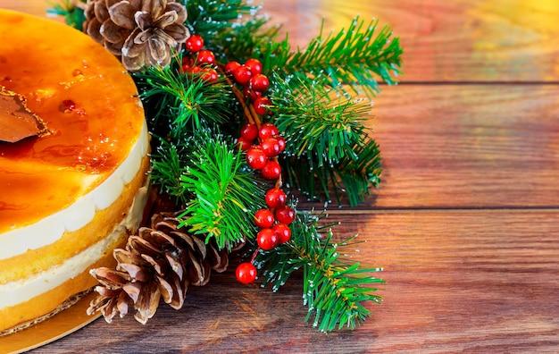 クリスマス作曲。ケーキお正月デコレーション