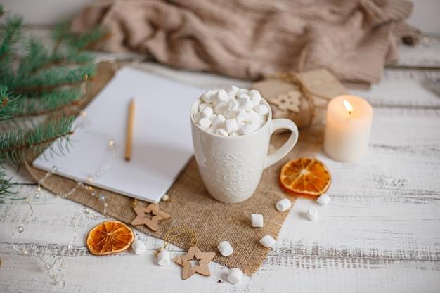 ココアとマーマレードのクリスマスコンポジションマグ