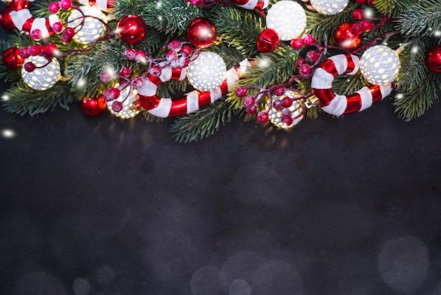 クリスマス作文。上面図、フラットレイ、コピースペース。