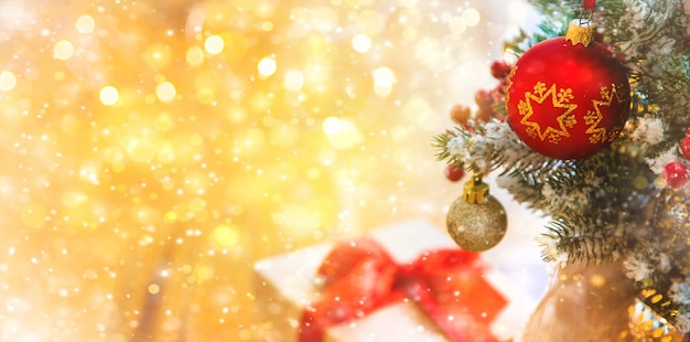 Christmas composition with beautiful decor