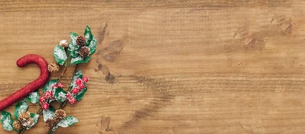 コピースペースのあるクリスマスの組成。