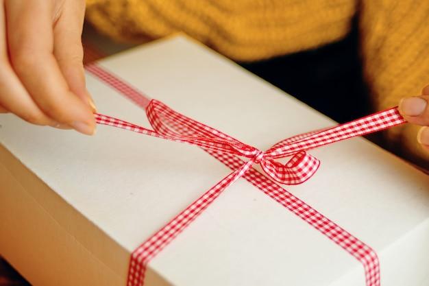 선물 상자 크리스마스 구성입니다.