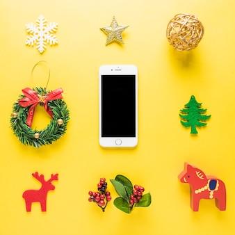 スマートフォンを使ったクリスマスの組成