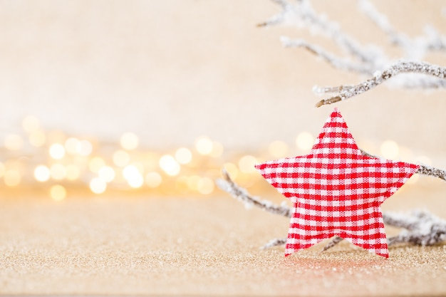 Christmas concept . festive decoration on bokeh silver background. new year concept. copy space.  flat lay. top view.