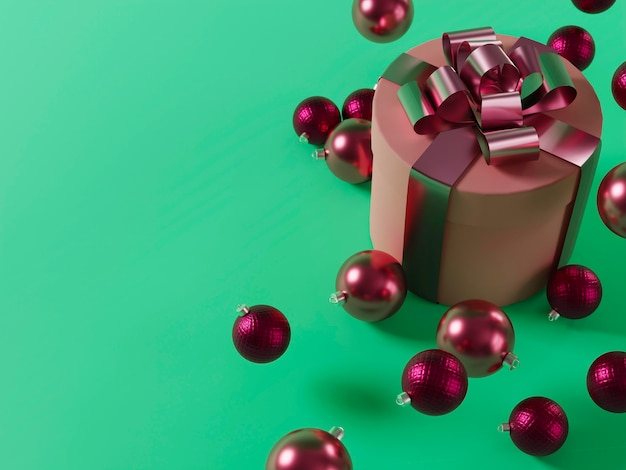Christmas concept with balls and copy space