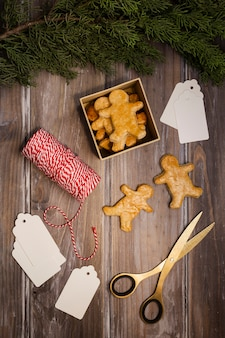 Christmas concept with gingerbread men