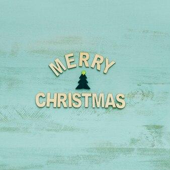 ツリーと手紙とクリスマスのコンセプト