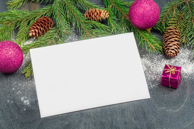 Christmas concept of writing goals or letter to santa claus