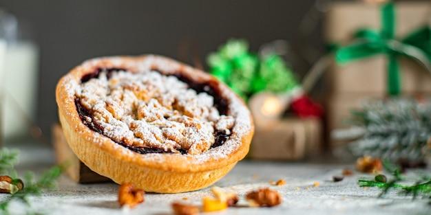 Рождественское печенье сладкое печенье бисквитное печенье домашний пирог сладкий десерт