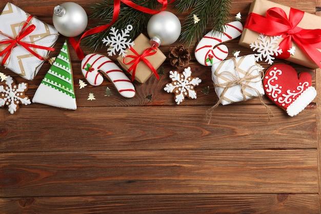크리스마스 쿠키 및 크리스마스 액세서리 평면도