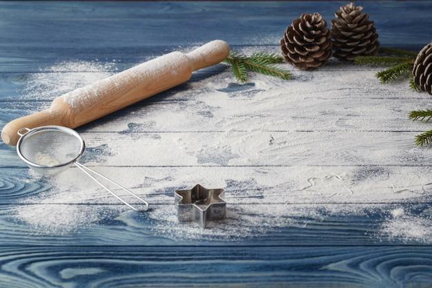 Рождество печенье фон