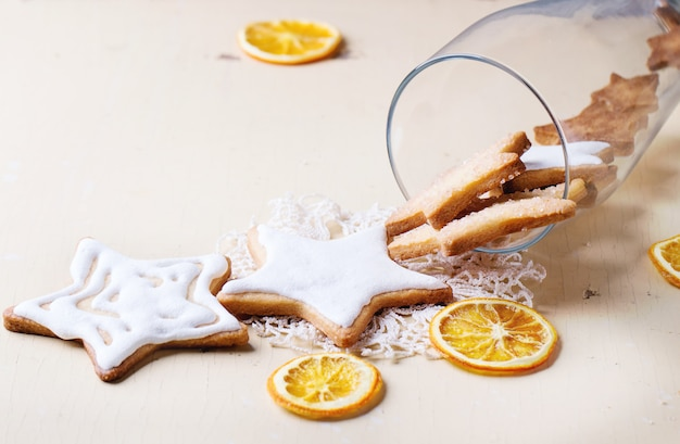Christmas cookies in glass