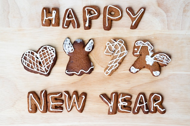 Christmas cookies happy new year