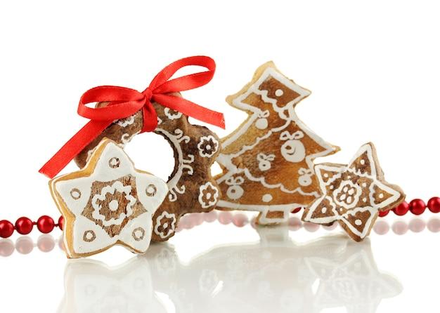 白で隔離のクリスマスクッキー