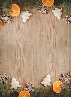 スライスしたオレンジのクリスマスクッキー