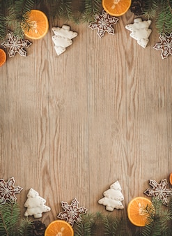 Christmas cookies with sliced orange