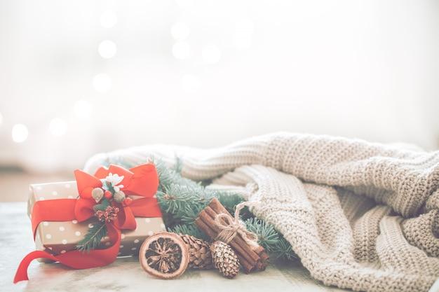 Рождественский уют в комнате