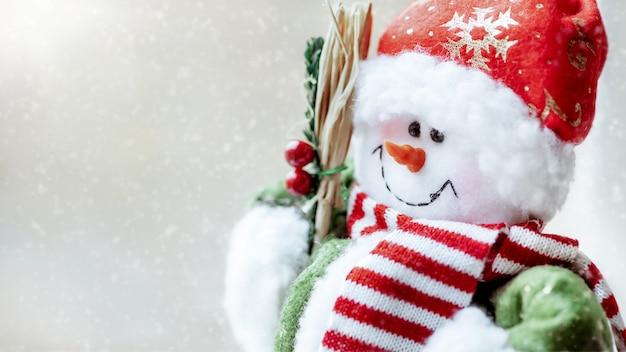 クリスマスかわいい雪だるまのおもちゃ