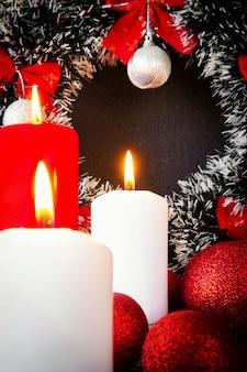 새해 구성 축제 장식 크리스마스 장식 양초