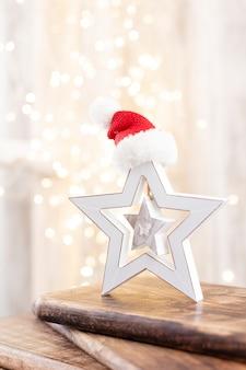 Рождественский декор на фоне боке.