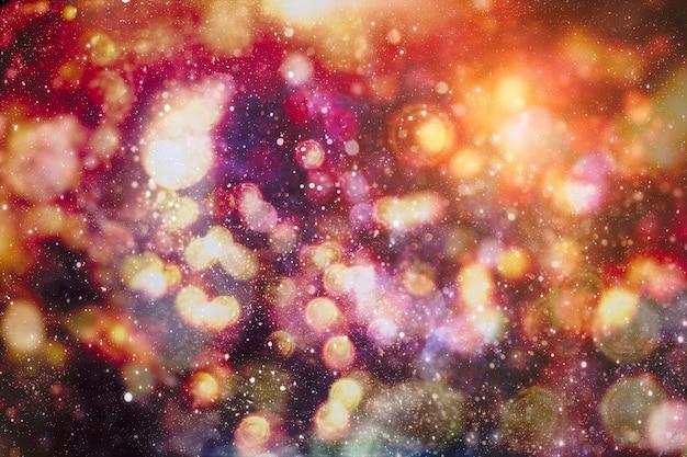 Рождественский декор с яркими огнями боке. волшебная зима на рождество.