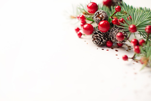 Christmas decoration on abstract background