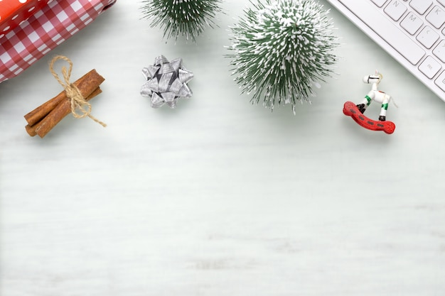 Christmas decoration abstract background