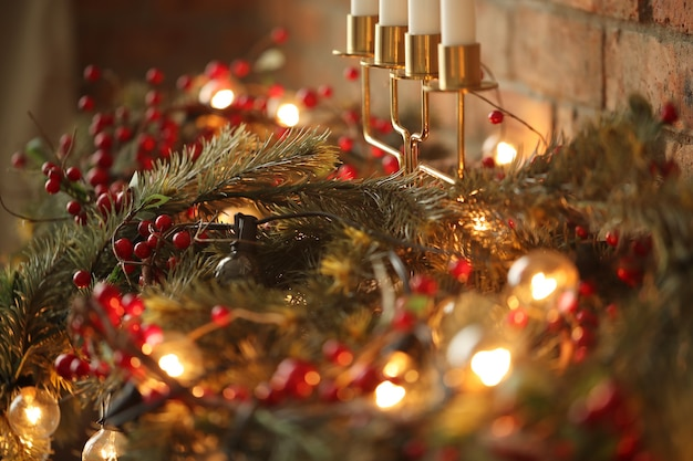 自宅でのクリスマスの飾り