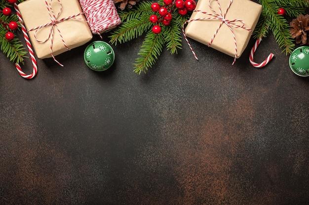 Рождественские украшения фон. рождественская и новогодняя открытка