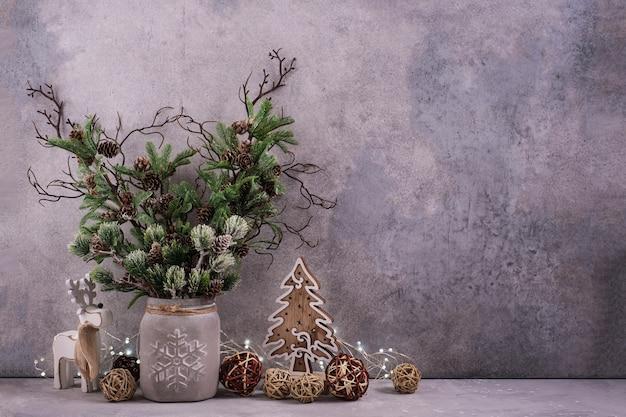 コピースペースとクリスマスの装飾の背景