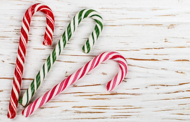 Christmas decoration colorful candy canes