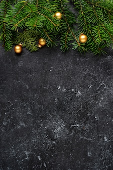 Christmas decoration on dark background