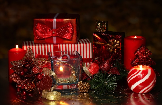 Christmas decoration and gift boxes
