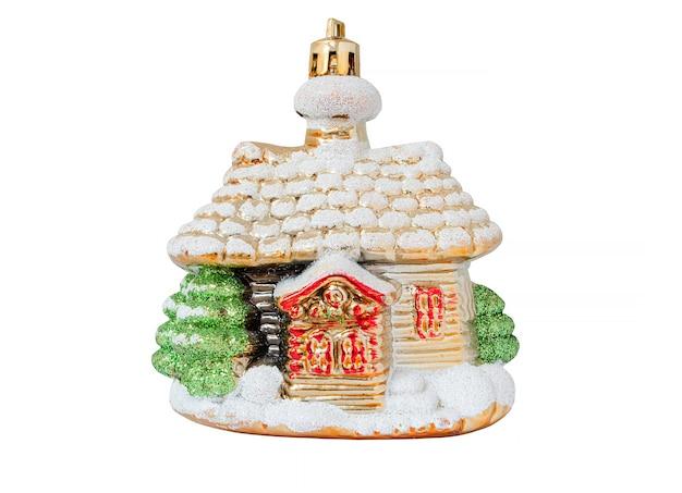 白い背景で隔離のクリスマスの装飾