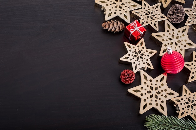 Christmas decoration object texture background.