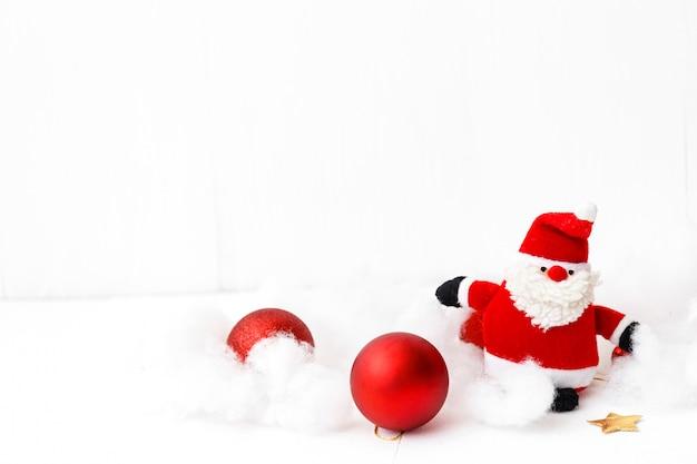 흰색 배경, 제품 또는 텍스트 복사 공간을 많이에 크리스마스 장식.