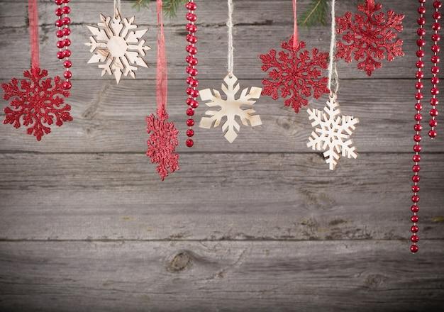 나무 배경 크리스마스 장식