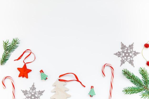 Christmas decoration pattern on white background