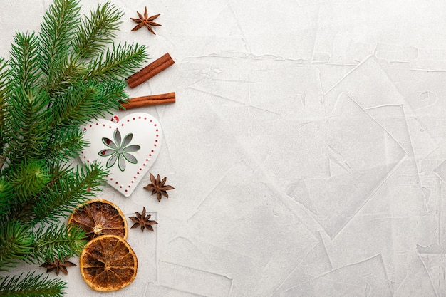 Christmas decoration and spices