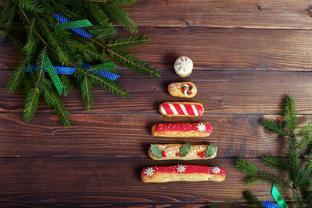 Christmas decoration and sweets. the concept of christmas and new year