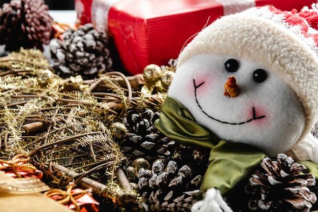 Christmas decoration, teddy and lights
